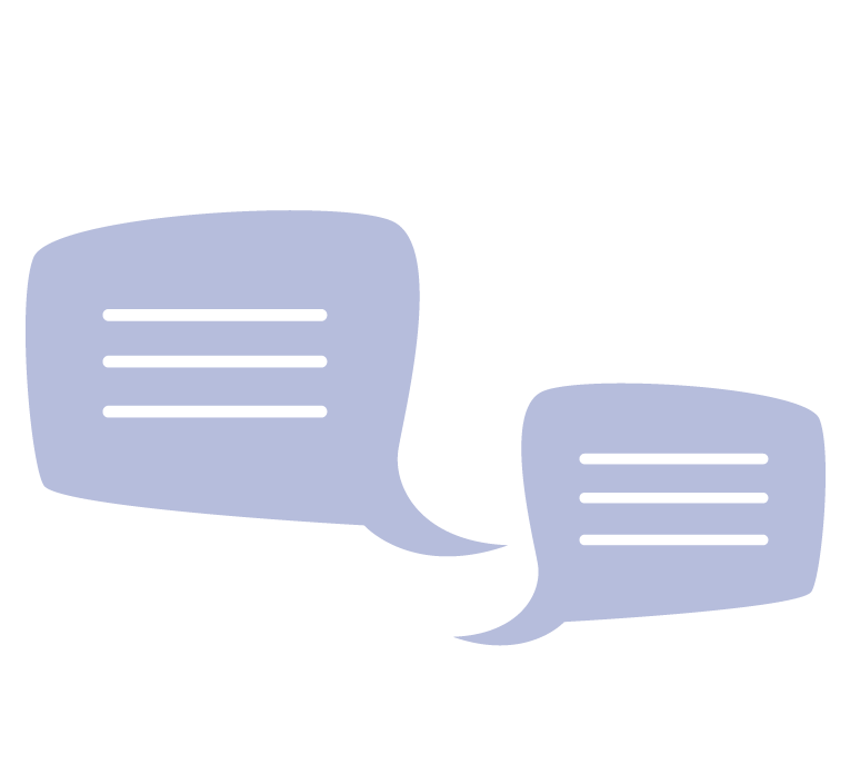 Vector image of two speech bubbles